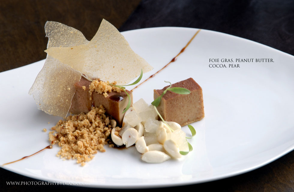 photo of: Sam Mason  Foie Gras, Peanut Butter, Cocoa, Pear