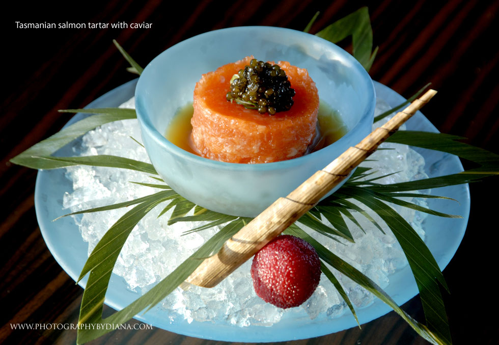 photo of: Nobuyuki Matsuhisa Tasmanian salmon tartar with caviar