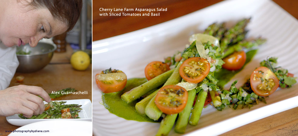 photo of Cherry Lane Farm Asparagus Salad with Sliced Tomatoes and Basil
