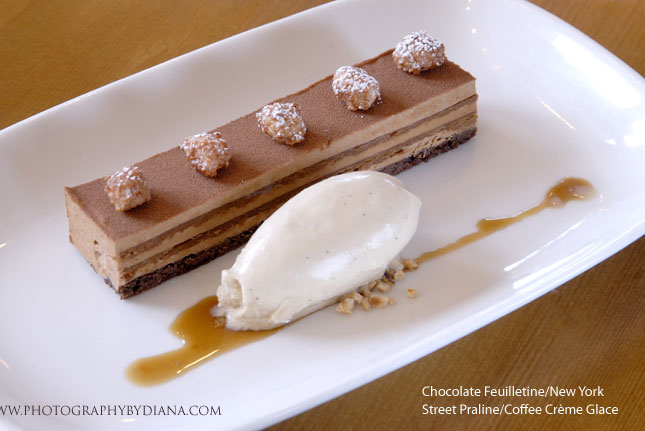 photo of: Laurent Tourondel Chocolate Feuilletine/New York Street Praline/Coffee Crème Glace