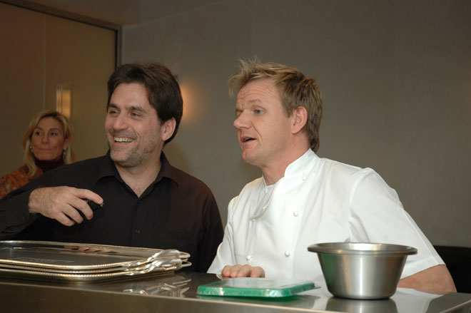 Gordon Ramsay with Matt DeLucia